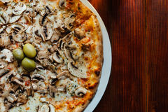 Delicious Funghi Pizza Stock Images