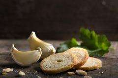 Delicious garlic crackers Stock Photos