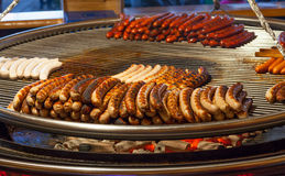 Delicious german sausages royalty free stock images