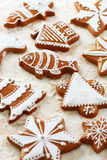 Delicious gingerbread cookies for Christmas Royalty Free Stock Photography