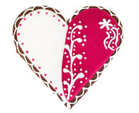 Delicious gingerbread hearts for Valentine`s Day Royalty Free Stock Photography