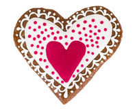 Delicious gingerbread hearts for Valentine`s Day Royalty Free Stock Images