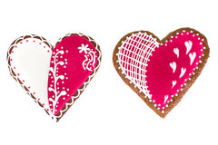 Delicious gingerbread hearts for Valentine`s Day Stock Photography