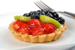 Delicious Glazed Fruit Tart Royalty Free Stock Photography