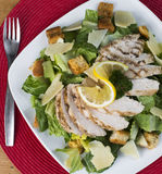 Delicious Gluten Free Chicken Caesar Salad Stock Image