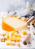 Delicious Gouda cheese Royalty Free Stock Photos