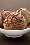 Delicious gourmet chocolate ice cream, Royalty Free Stock Photos