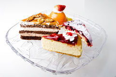 Delicious gourmet desserts cream mousse cake Royalty Free Stock Photos