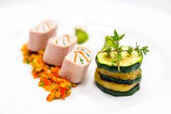Delicious gourmet food Stock Images