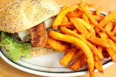 Delicious gourmet hamburger Royalty Free Stock Photo