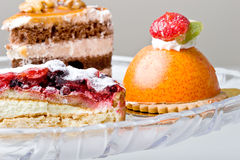 Delicious gourmet sweet treats desserts mousse Royalty Free Stock Image