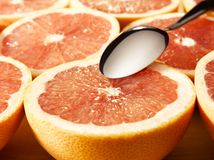 Delicious grapefruits Stock Images