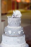 Delicious gray wedding cake Royalty Free Stock Photo