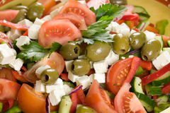 Delicious greek salad Royalty Free Stock Photography
