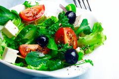 Delicious Greek salad Stock Photo
