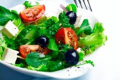 Delicious Greek salad Stock Photo