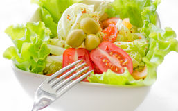 Delicious greek salad close up Stock Photography