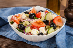 Delicious greek salad Stock Photography