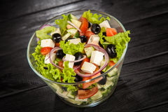Delicious greek salad Stock Images