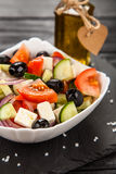 Delicious greek salad Royalty Free Stock Photo