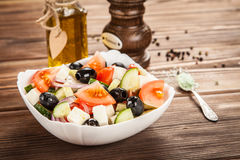 Delicious greek salad Royalty Free Stock Images