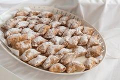 Delicious Greek traditional cheese pastries ,  pourekia Stock Image