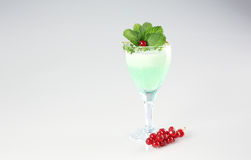 Delicious green cocktail. In studio Royalty Free Stock Image