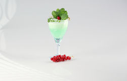 Delicious green cocktail. In studio Stock Photo