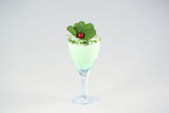 Delicious green cocktail. In studio Royalty Free Stock Photo