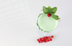 Delicious green cocktail. In studio Royalty Free Stock Images