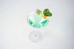 Delicious green and fresh cocktail. In studio Royalty Free Stock Image