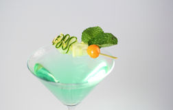 Delicious green and fresh cocktail. In studio Stock Image
