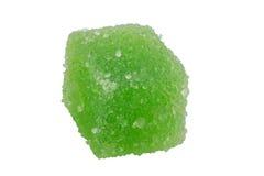 Delicious green jelly cube Stock Photos