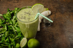 Delicious green smoothie Royalty Free Stock Image