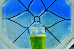 Vegan green smoothie. royalty free stock photo