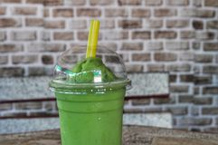 Green tea shake. Delicious green tea shake sold in Thailand stock images