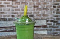 Green tea shake stock images