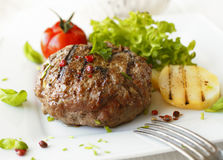 Delicious grilled beef meatball Royalty Free Stock Photography