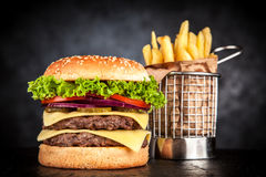 Delicious grilled burger Stock Photography