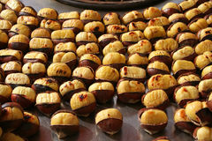 Delicious grilled chestnut Royalty Free Stock Images