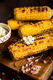 Delicious grilled corn Stock Photos