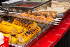 Delicious grilled corn on the cob Stock Photo
