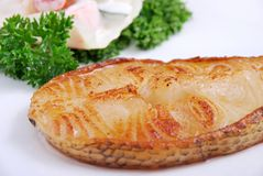 Delicious grilled fish Stock Images