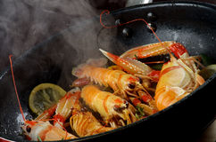 Delicious Grilled Langoustines Royalty Free Stock Images