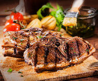 Delicious grilled marinated lamb chops Royalty Free Stock Photography