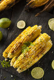 Delicious Grilled Mexican Corn Stock Photo
