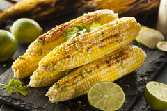 Delicious Grilled Mexican Corn Stock Photography