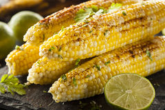 Delicious Grilled Mexican Corn Stock Photos