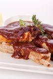 Delicious grilled pork ribs Royalty Free Stock Image
