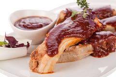 Delicious grilled pork ribs Stock Image